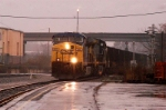 """mondays rain storm and an empty csx coal train moves into the """"DITCH"""" and  up to the CN&L"""
