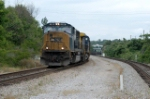 sitting in the ditch, headed for wateree power station this train waits for his signal  at devine jct