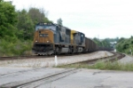 csx coal train snakes through the ditch only to be held at devine jct signal
