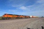 BNSF 7904 leads two GEVOS west