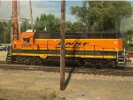 BNSF 2039 rests on a siding