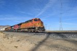 A colorful train races Towards Mojave