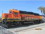 BNSF locomotives on display
