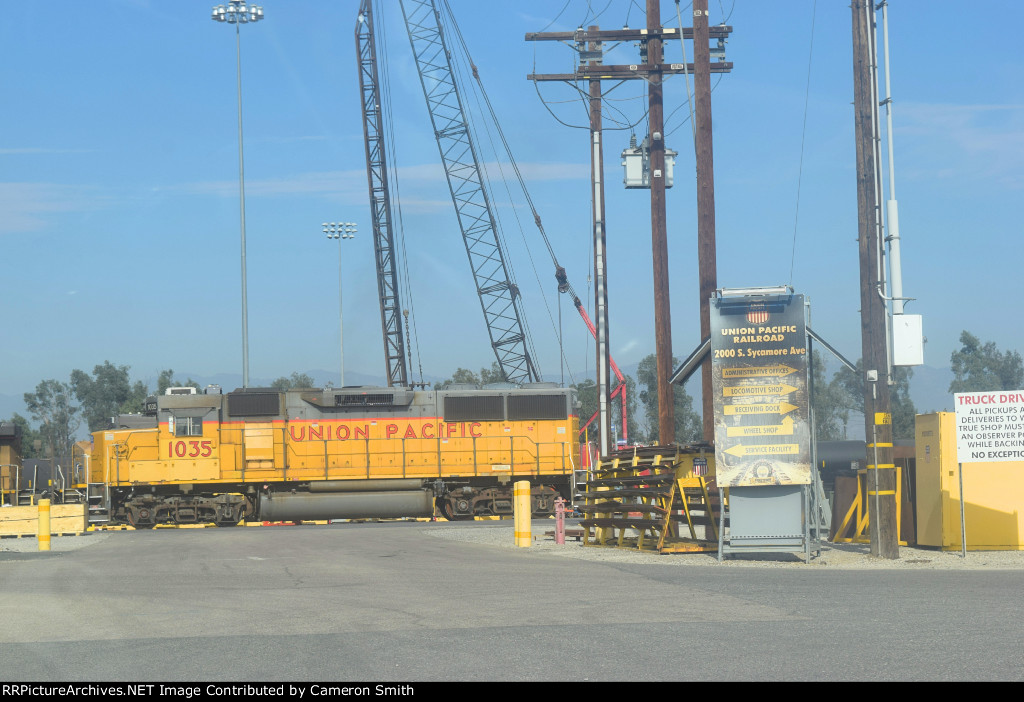 UP 1035 rests at WC