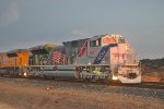 Spirit of the Union Pacific at sunset