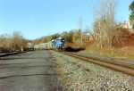 An unknown Conrail EMD leader is heading for cp5 back when this was still single tracked.