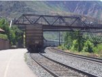 The California Zephyr departs Glenwood Springs for Emeryville
