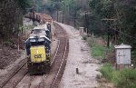 CSX 2684 leads K51 with empty ballast cars to be filled at a local quarry