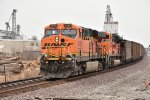 BNSF 6188 Dpu on a coal load.