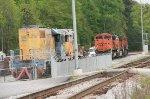 PRSX SD40-2 1736 (ex-Ontario Northland) and BNSF 9223