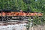 BNSF 7050, 7619, and 4087