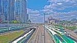 8 GO trains at Spadina Avenue