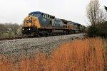 CSX 7869  on SCWX empty coal train near the 262kd