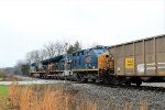 CSX 3436 on empty coal tarin over Westcott Blvd