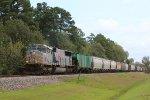 KCS 3970 leads a WB grain train on the UP Houston Sub