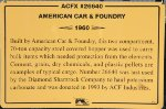 ACFX 26640 - American Car & Foundry Hopper Sign