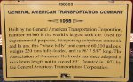 GATX 96500 - General American Transportation Tanker Sign