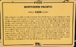 NP 1082 - Northern Pacific Caboose Sign