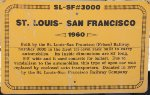 SLSF 3000 - St Louis-San Francisco Autorack Sign