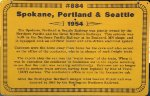 SPS 884 - Spokane, Portland & Seattle Caboose Sign