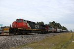 CN 2668 leads a WB oil train on the UP Houston Sub