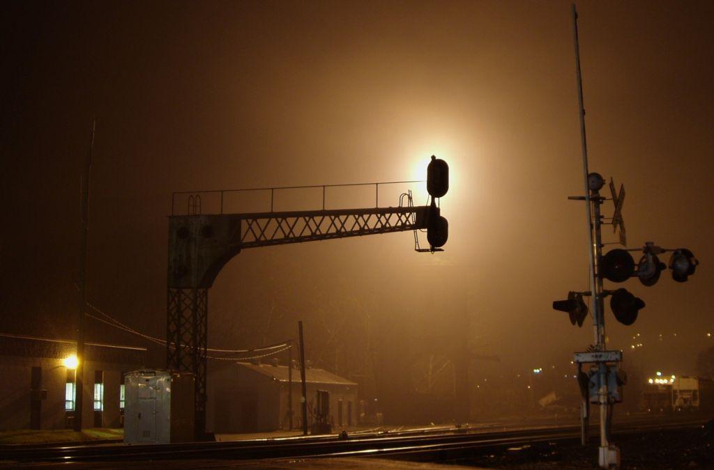 Foggy Night At Sandy Hook Yard