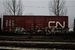 CN 558170  52-8 ft Double Door Excess Height Boxcar (side B)