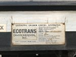 NS 5816s ECOTRANS Locomotive Emission Control Info Plate