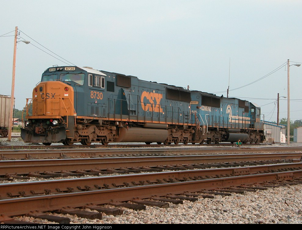 CSX 8730 and 8717