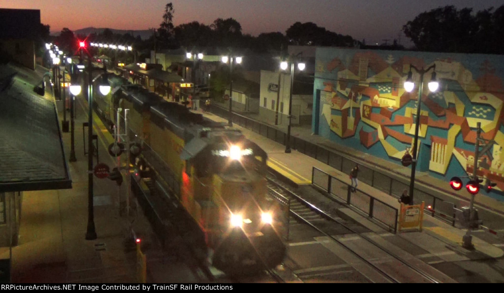 UP 1488 leads the Mission Bay Local