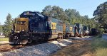CSX SD50-2's 8576 and 8520 cross Westbrook Road