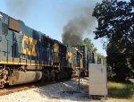 CSX SD50-2 8520 smokes it up
