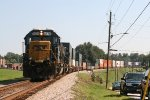 CSX SD50-2's 8576 and 8520 wait for green