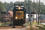 CSX SD50-2 8576 crosses Senoia Road