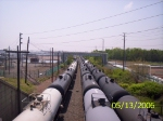 Pushing tank cars toward the racks