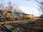 CSX 3168 and UP 8222