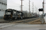 NS B05 sitting on the Ameriwood siding in Dowagiac, MI