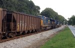 CSX 7762, 3087, and 844 lead SB coal