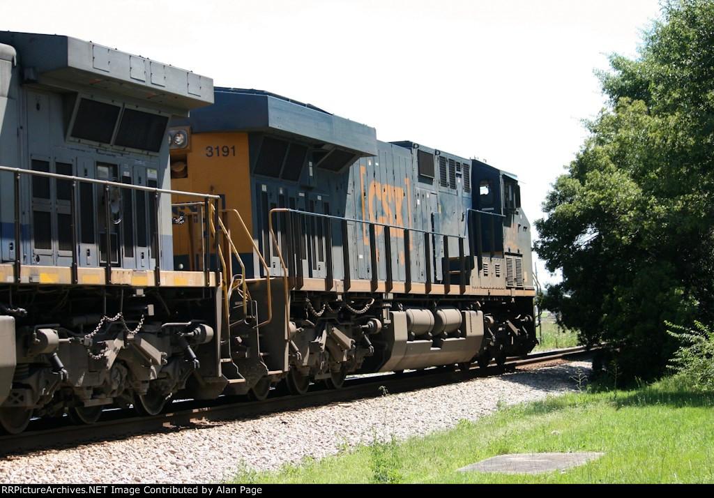 CSX ES44AC-H 3191 leads SB coal