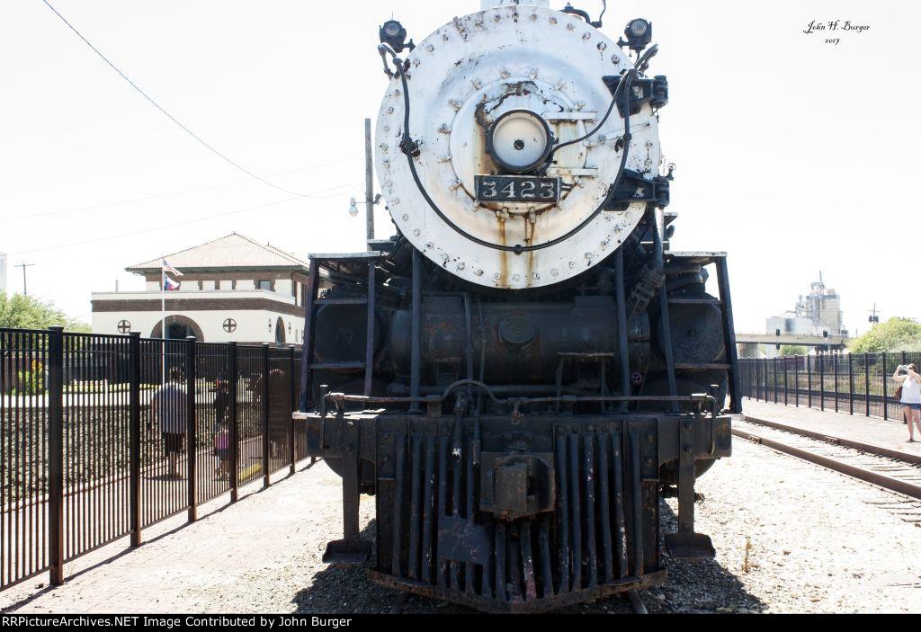 AT&SF Steam Locomotive 3423 - Train Day 2017 - Temple, TX