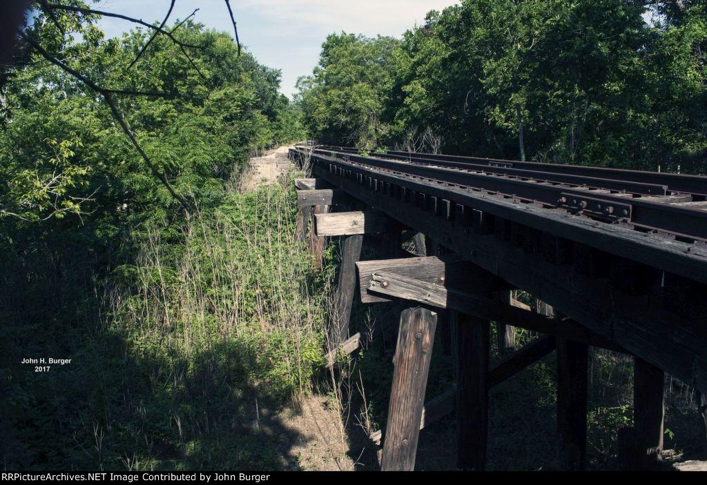 GRR Tracks Heading West -  Bridge At Berry Creek - Weir, TX - 06-07-2017