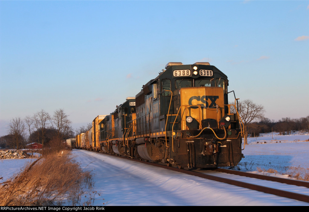 Snowy Fields and GP40-2s