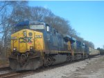 csx yn2 leads coal train