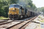 CSX 809 and 432 on coal train