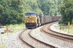 CSX 3098 and 888 on empty coal train