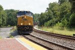 CSX 3098 and 888 on empty coal train (2)
