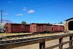 SP narrow gauge boxcars awaiting restoration