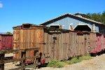SP narrow gauge boxcars awaiting restoration