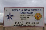 TEXAS AND NEW MEXICO RR SIGN