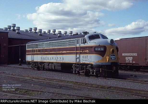 DL&W 637